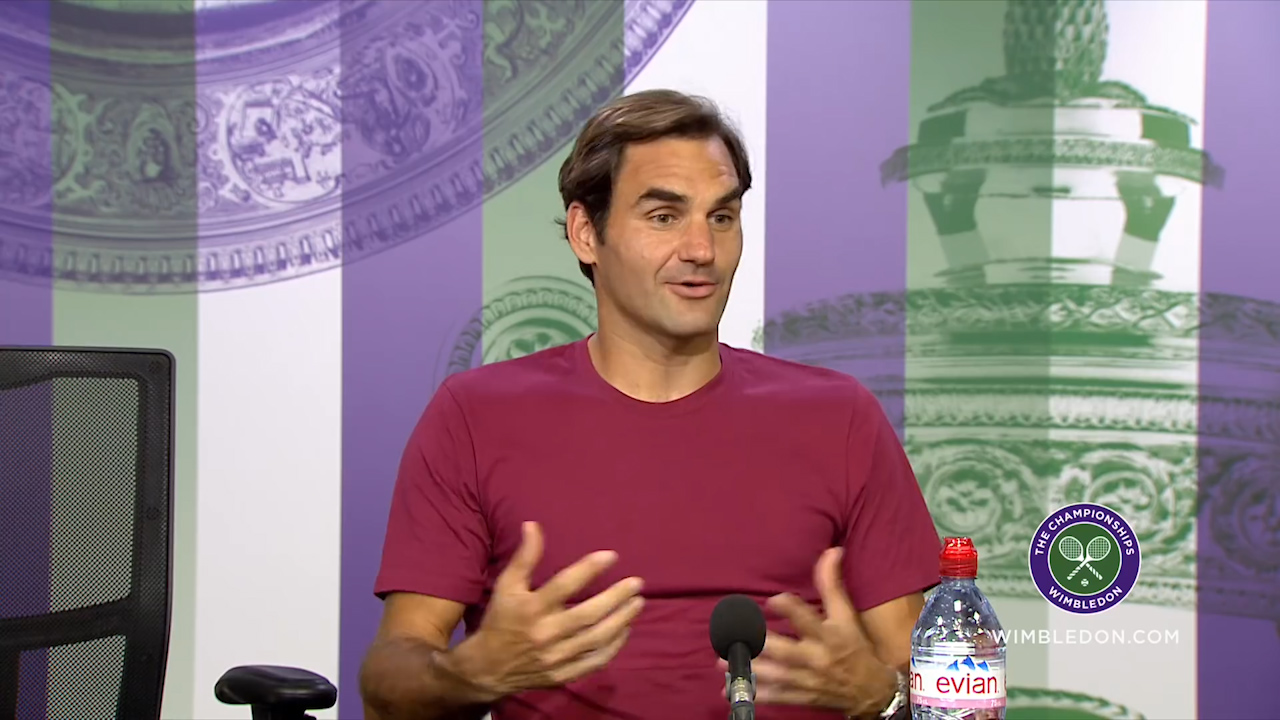 Federer jokes about Wimbledon's World Cup stance