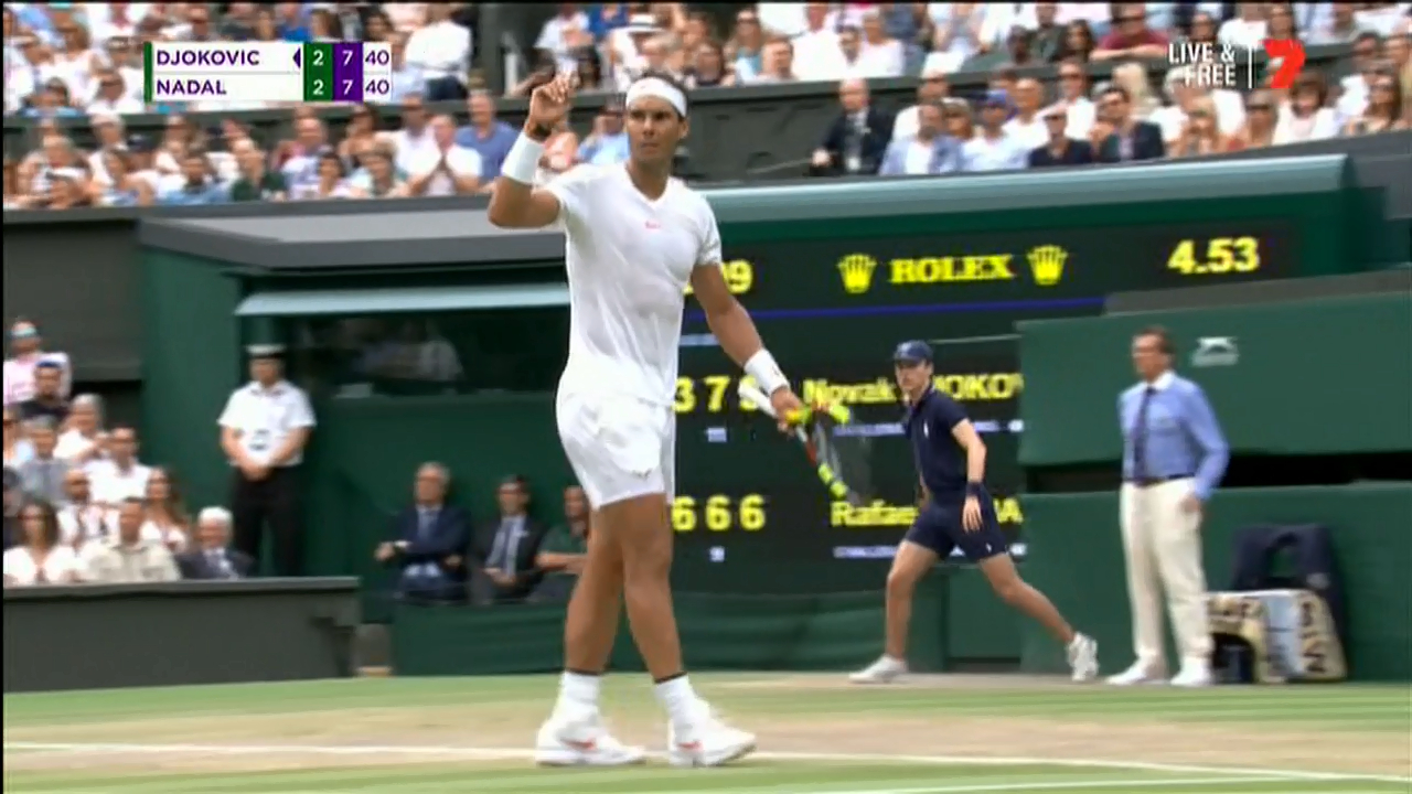 Nadal wins epic point against Djokovic