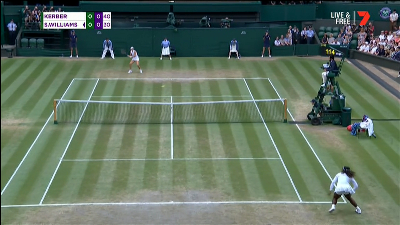Kerber breaks serve in final