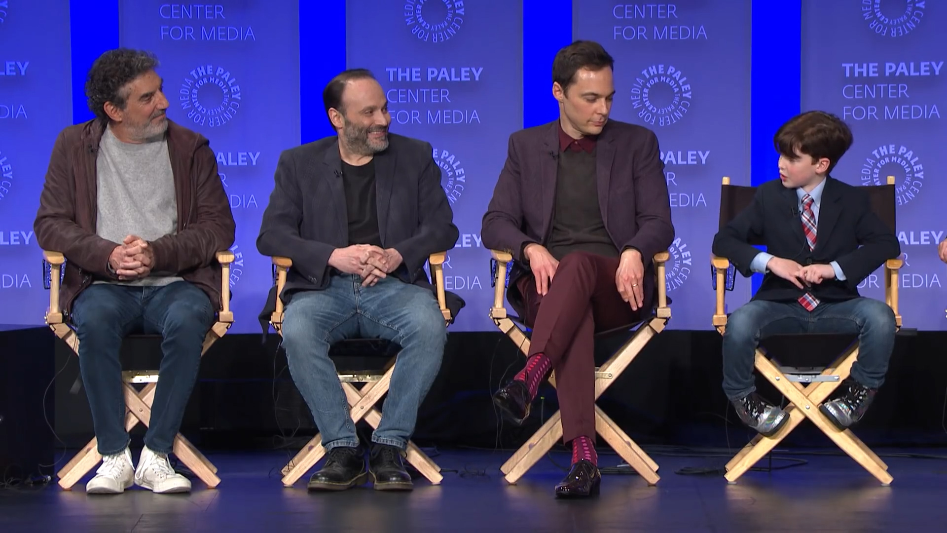 Jim Parsons jokes that Iain Armitage has ditched him now he's famous