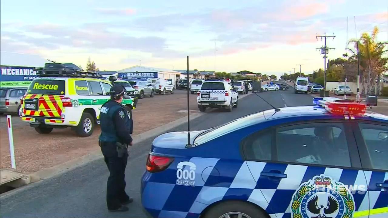 Manhunt underway after shootout in South Australia