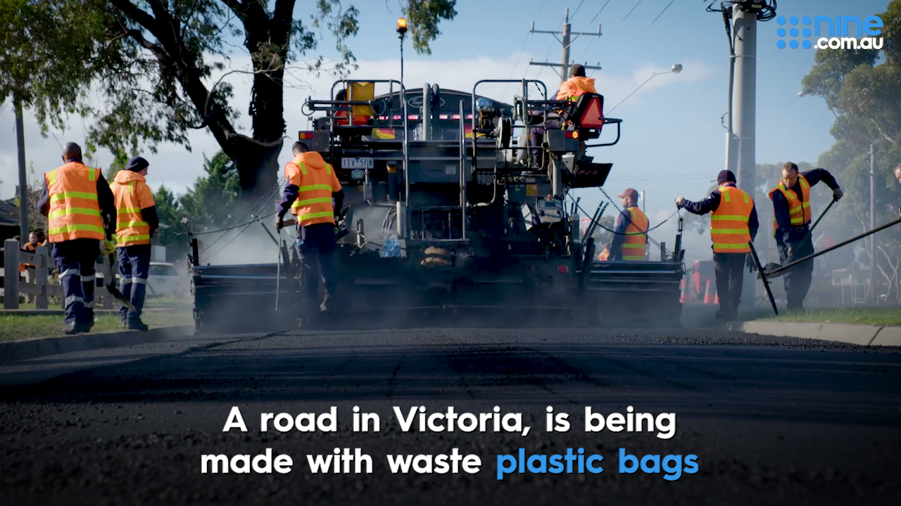 Victorian road made with plastic bags