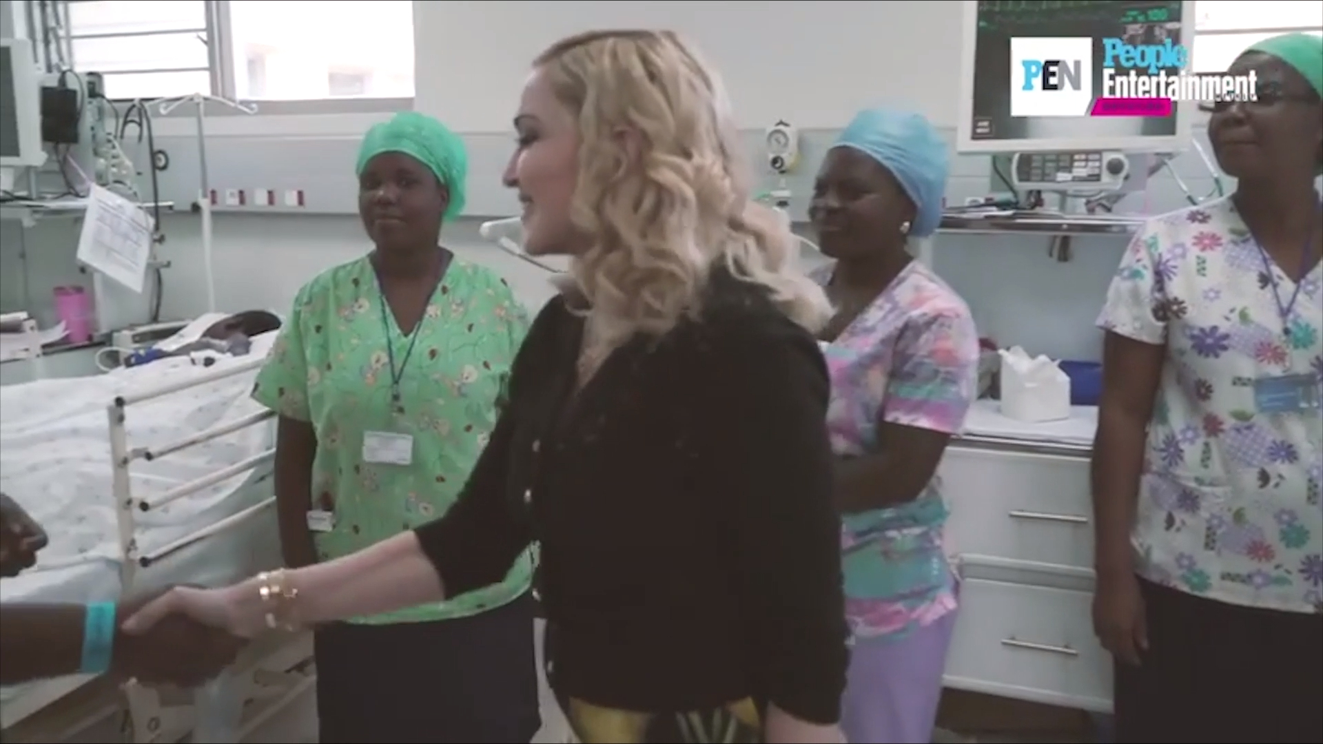 Madonna opens a hospital in Malawi