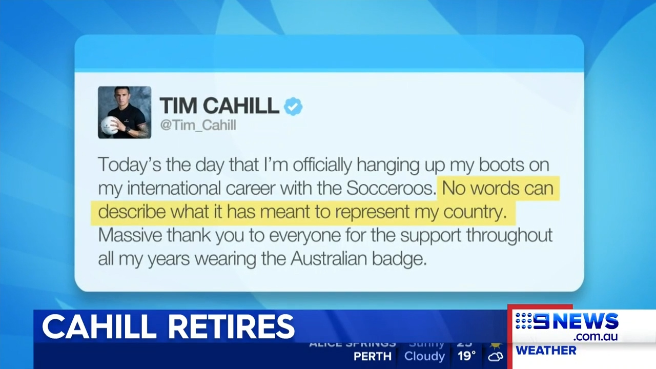 Tim Cahill retires