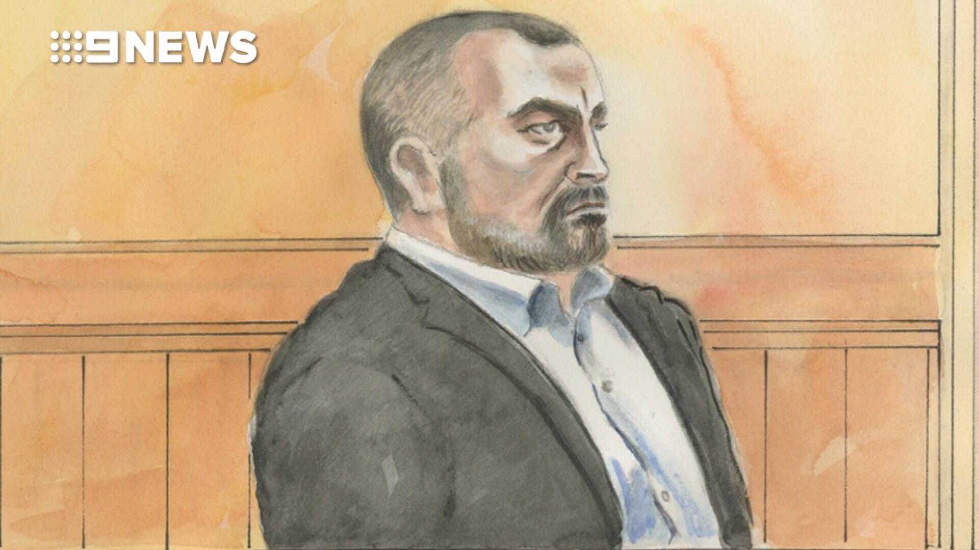 Borce Ristevski breaks down in court