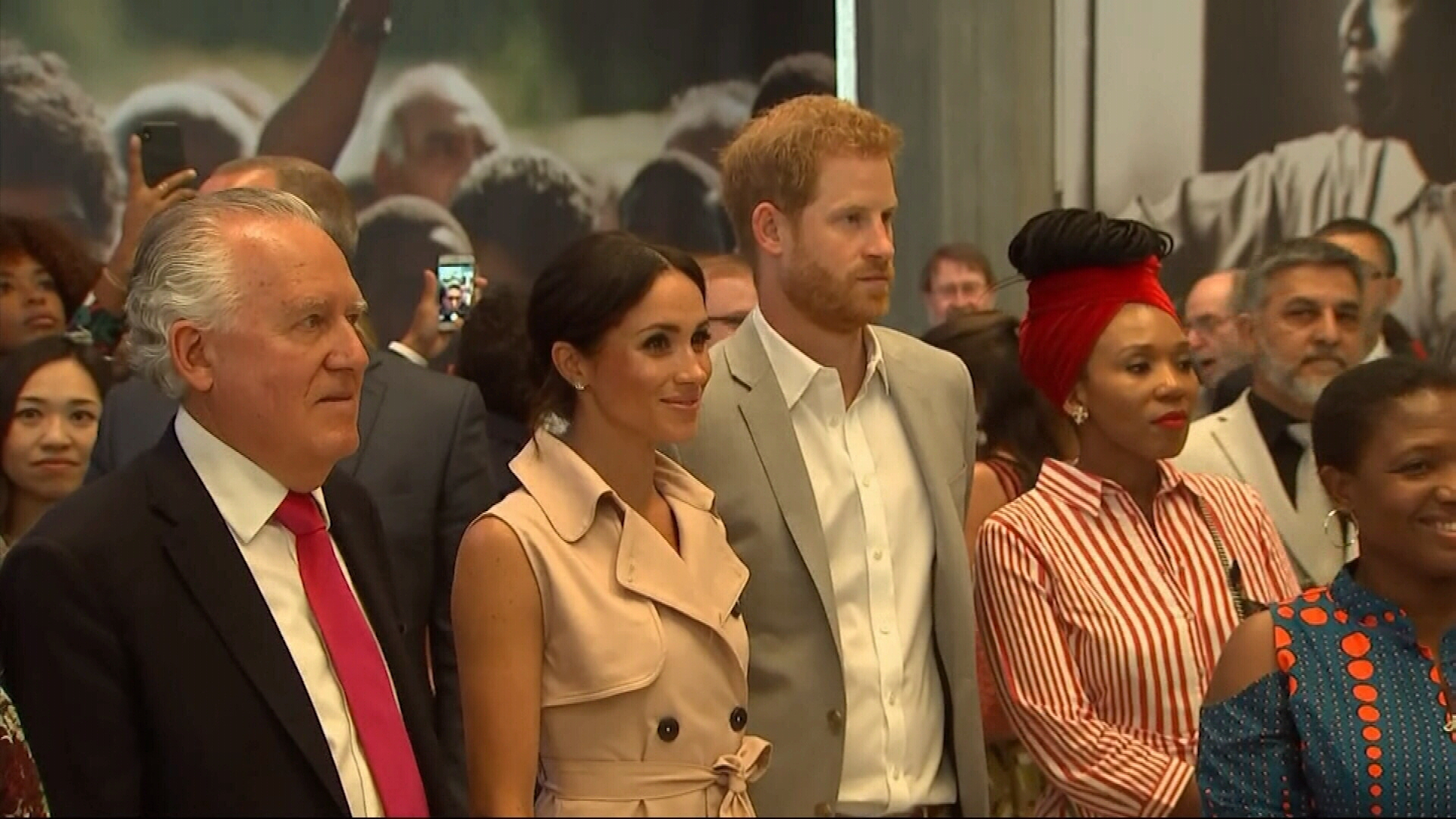 Duke and Duchess of Sussex visit Nelson Mandela tribute