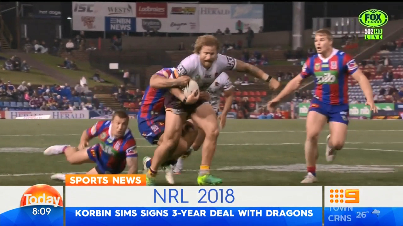 Dragons bag Sims from Broncos
