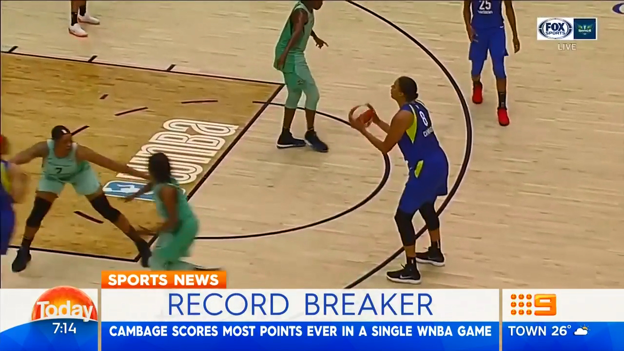 Cambage shatters WNBA record