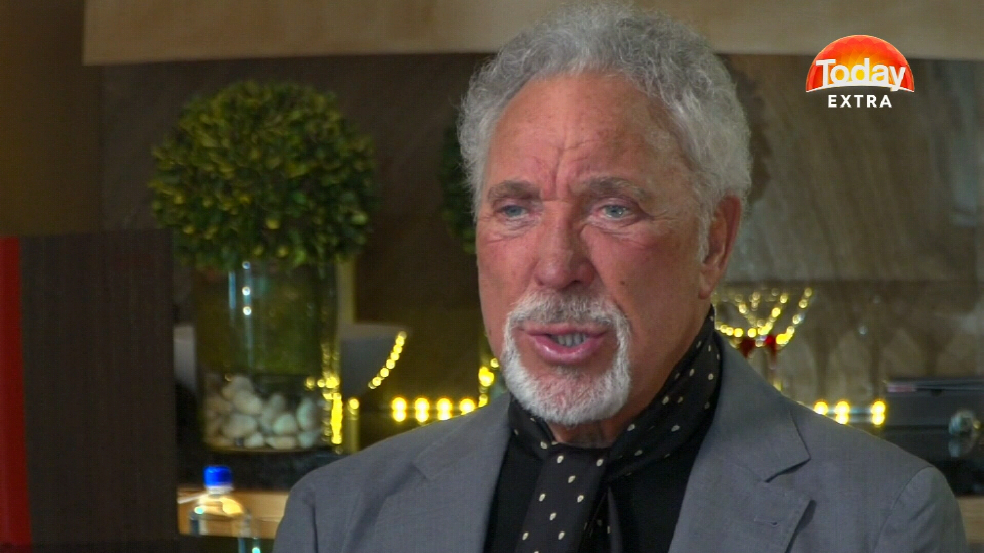 Sir Tom Jones in hospital