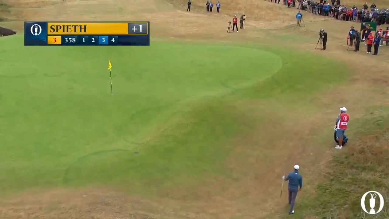 Spieth holes out with super shot