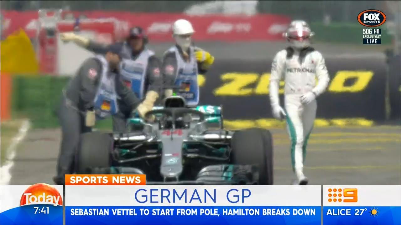 Vettel takes pole at German GP