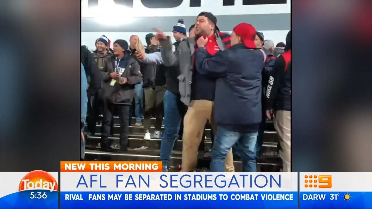 AFL fans face segregation at matches