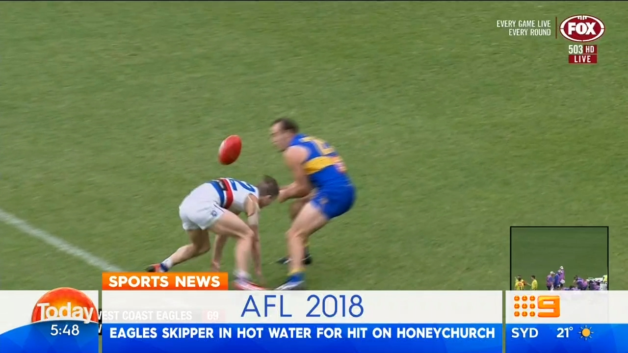 Eagles skipper in hot water for late hit