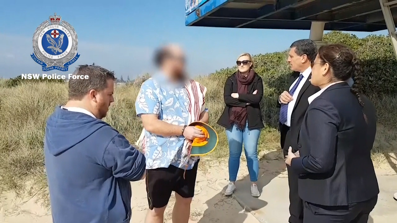 Alleged pedophile arrested at popular NSW beach