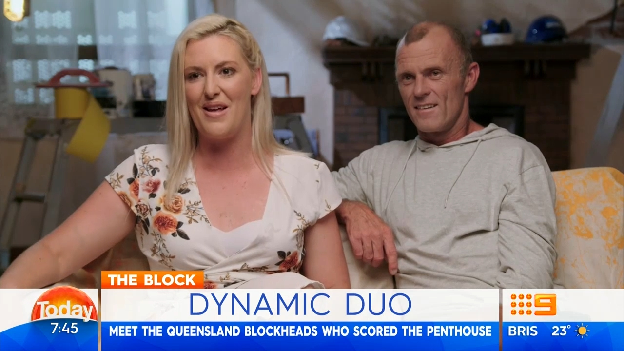 The Block' stars Norm and Jess' reveal details on their labourers