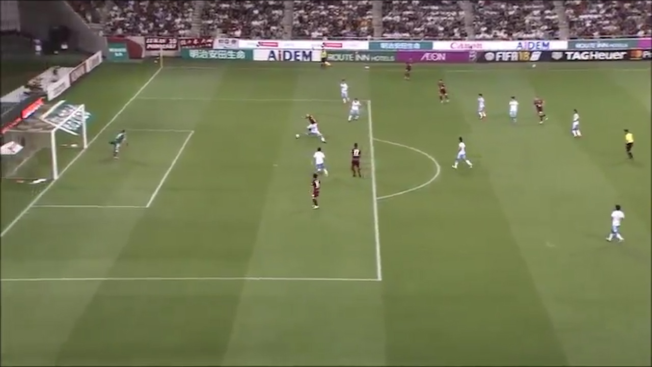 Iniesta scores first J-League goal
