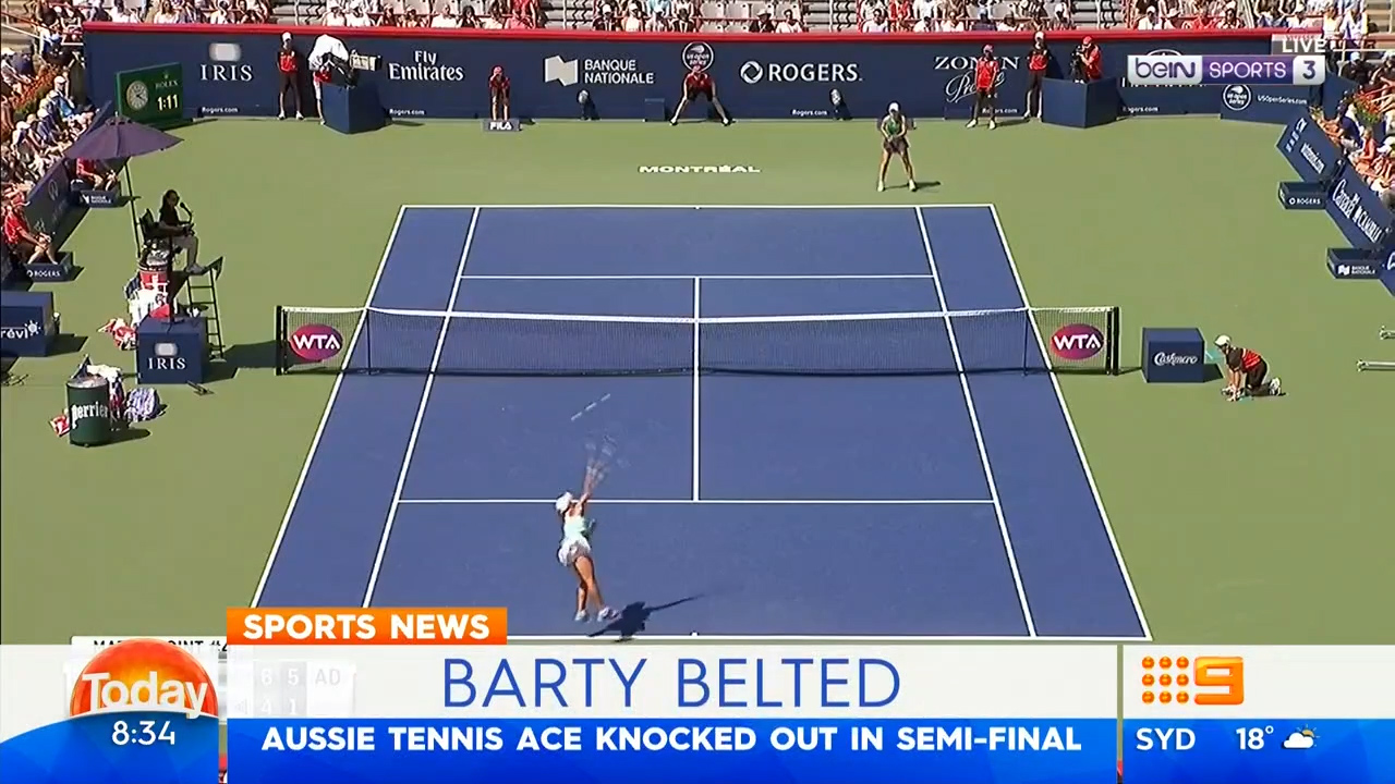 Barty knocked out in semi-final