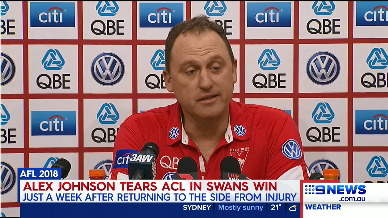 Johnson injury surprised Swans