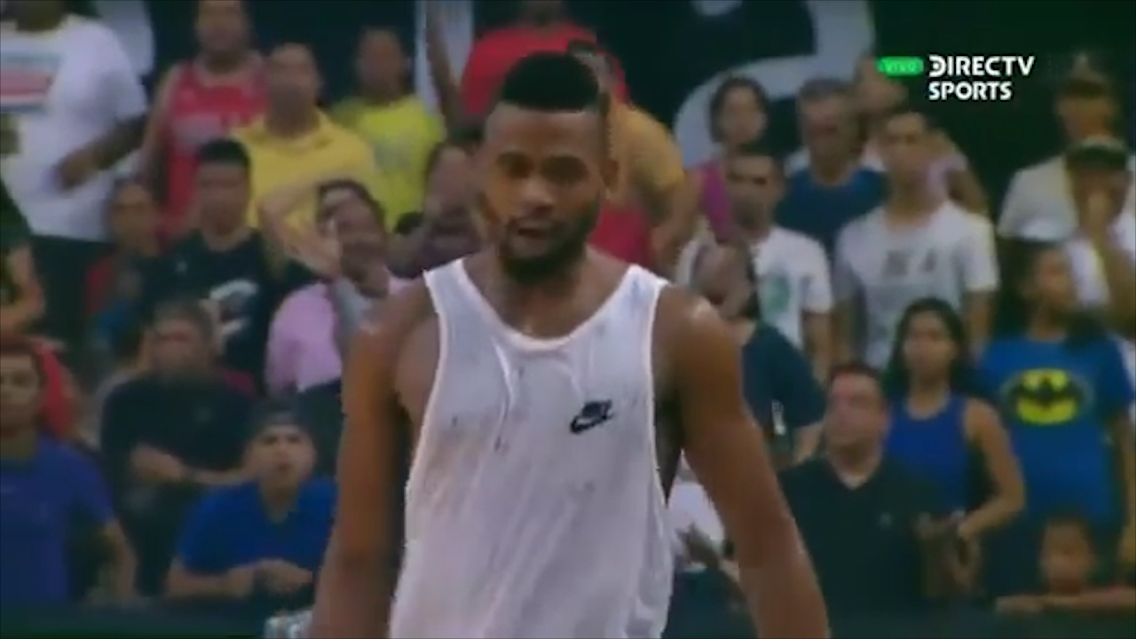 Basketballer's epic ejection tantrum