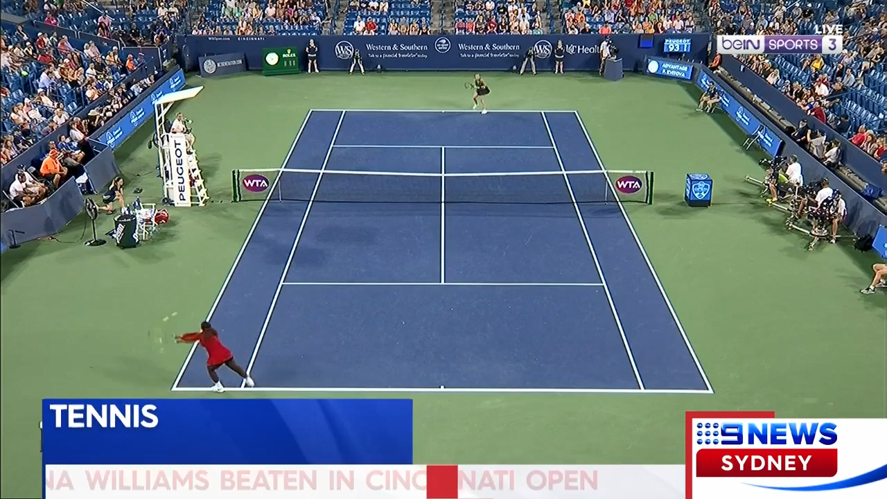 Serena sunk by Kvitova