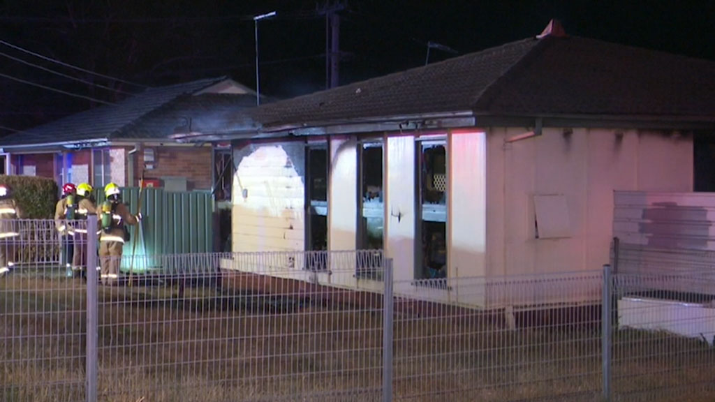 Home gutted by flames in Sydney's west