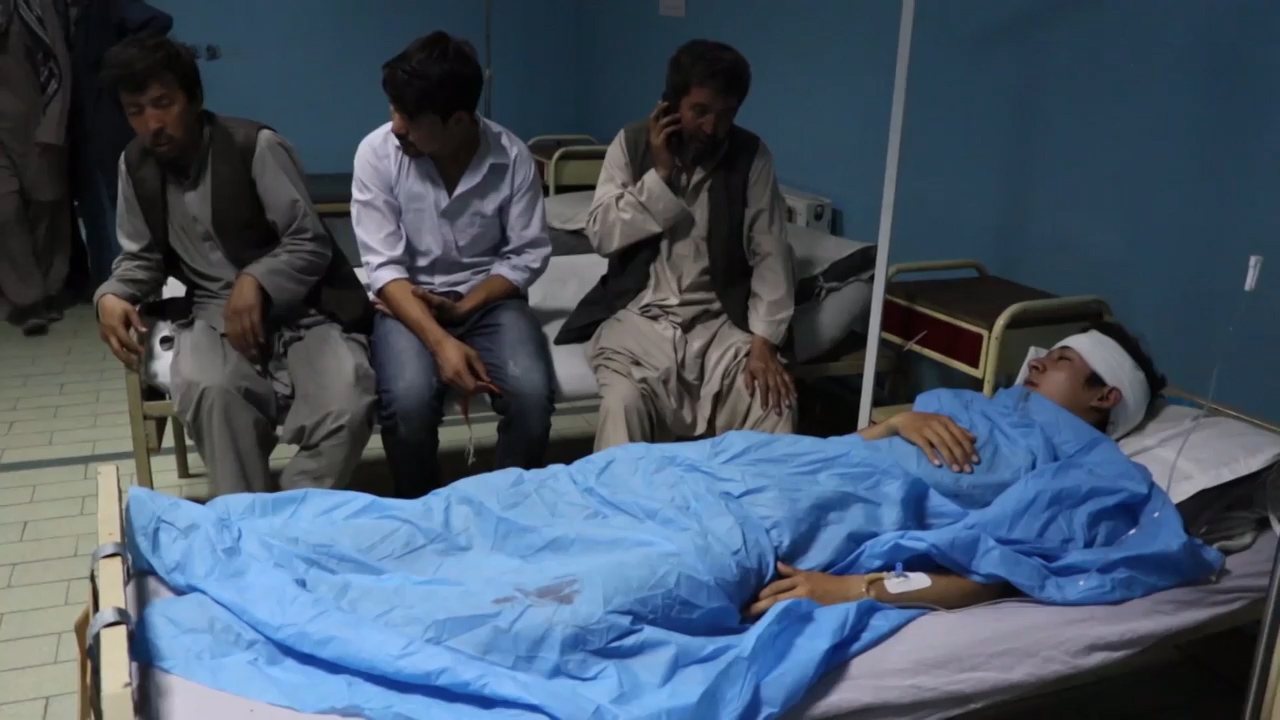Kabul hospital receives injured after deadly suicide bombing