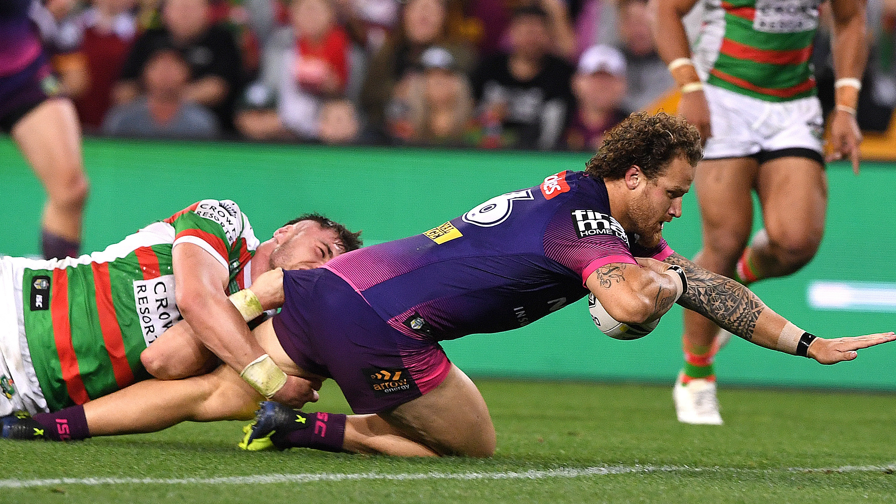 HALF TIME: Brisbane Broncos v South Sydney Rabbitohs - Round 23
