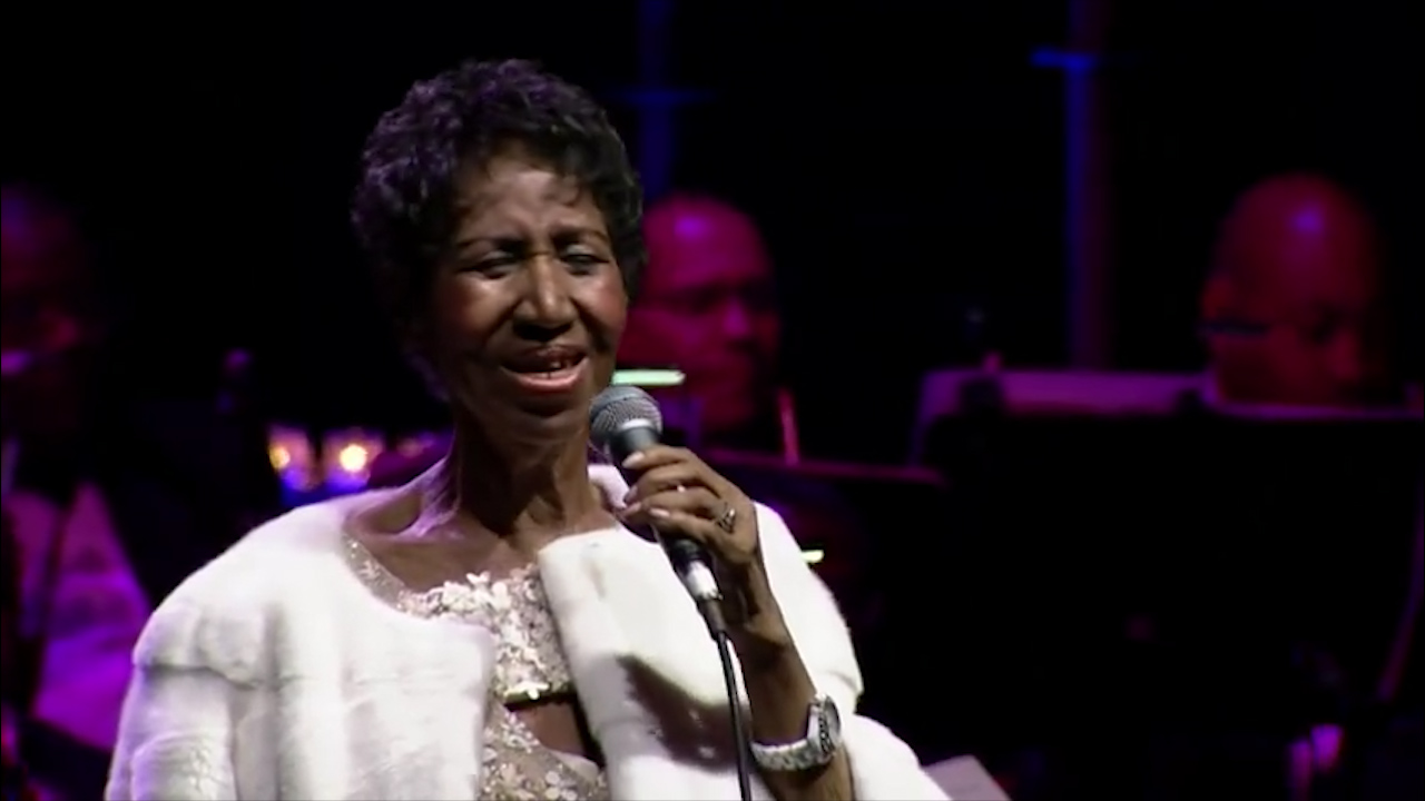 Aretha Franklin performs at Elton John AIDS Foundation in New York