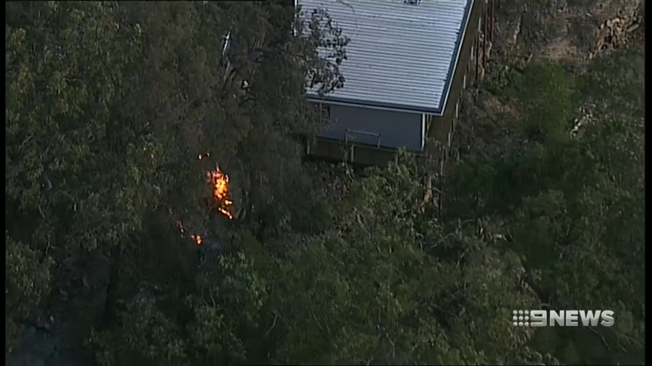 Flames come dangerously close to homes in Sydney