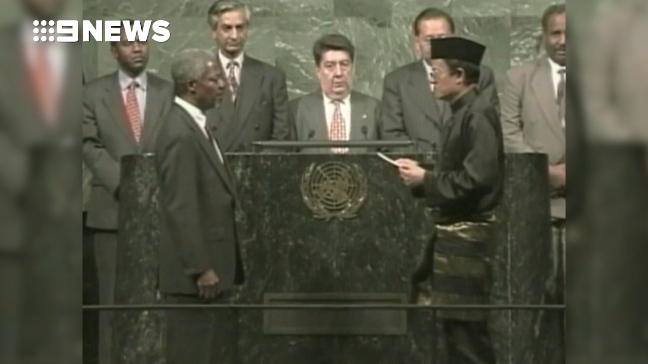Kofi Annan sworn in as UN Secretary General