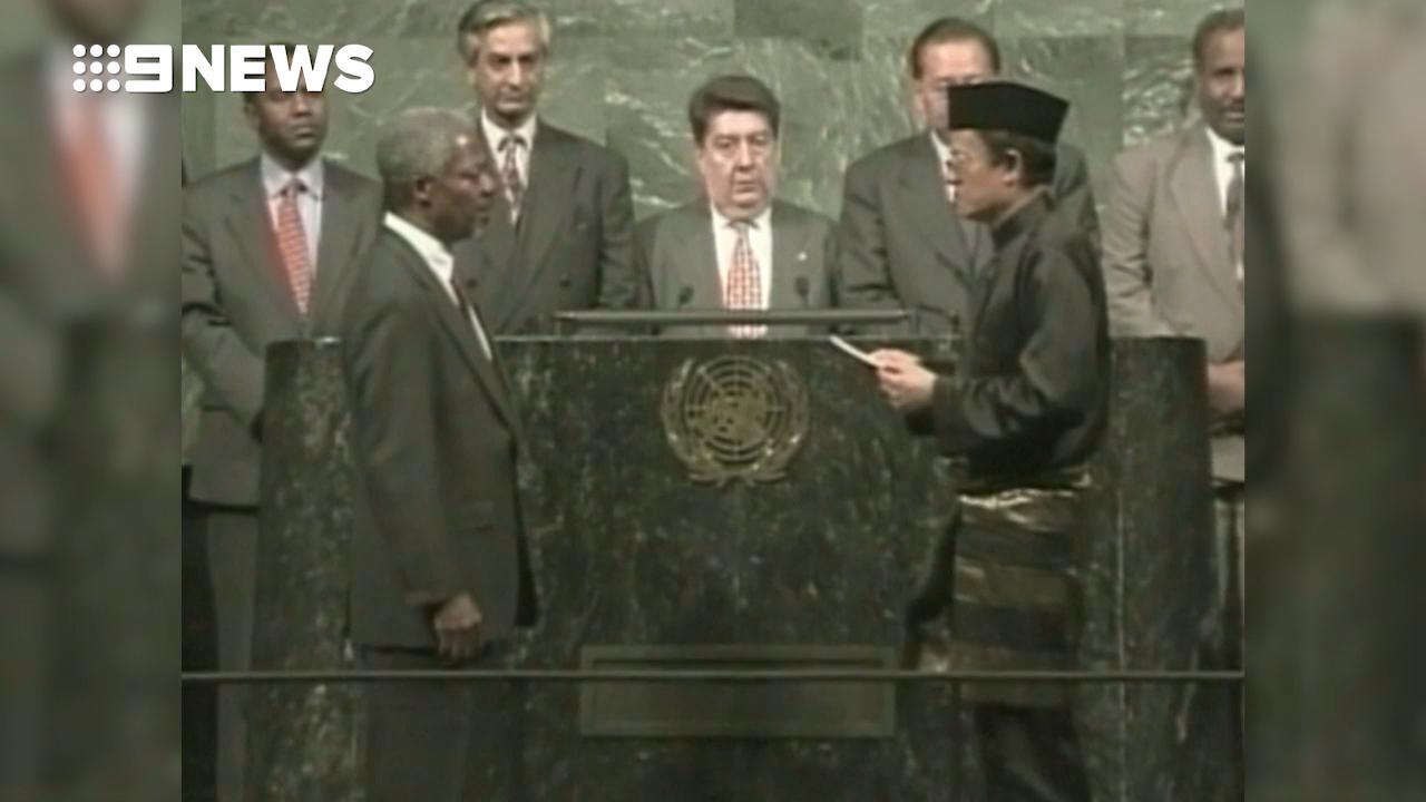 Kofi Annan sworn in as UN Secretary General