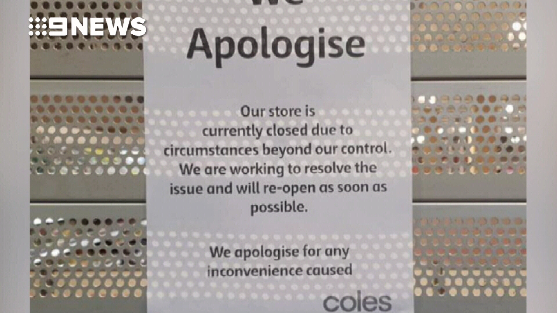 Technical glitch that closed Coles stores has been resolved