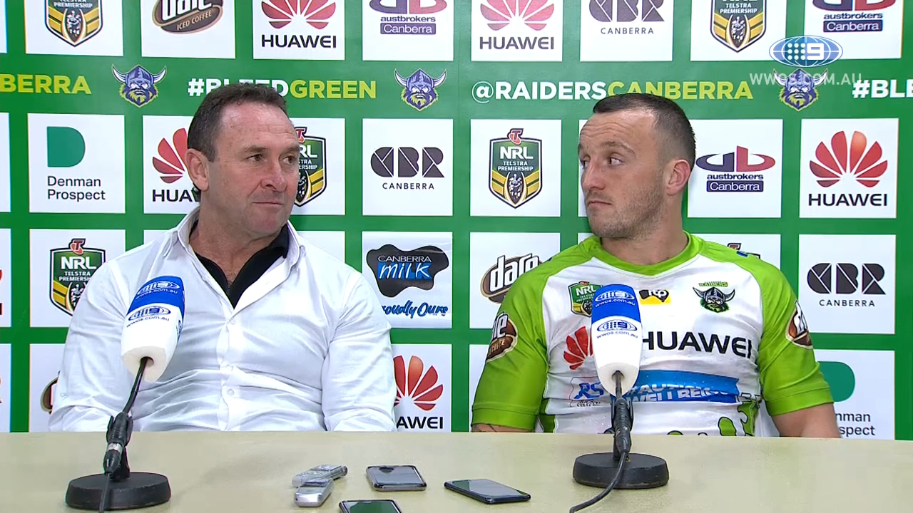 NRL Press Conference: Canberra Raiders - Round 23
