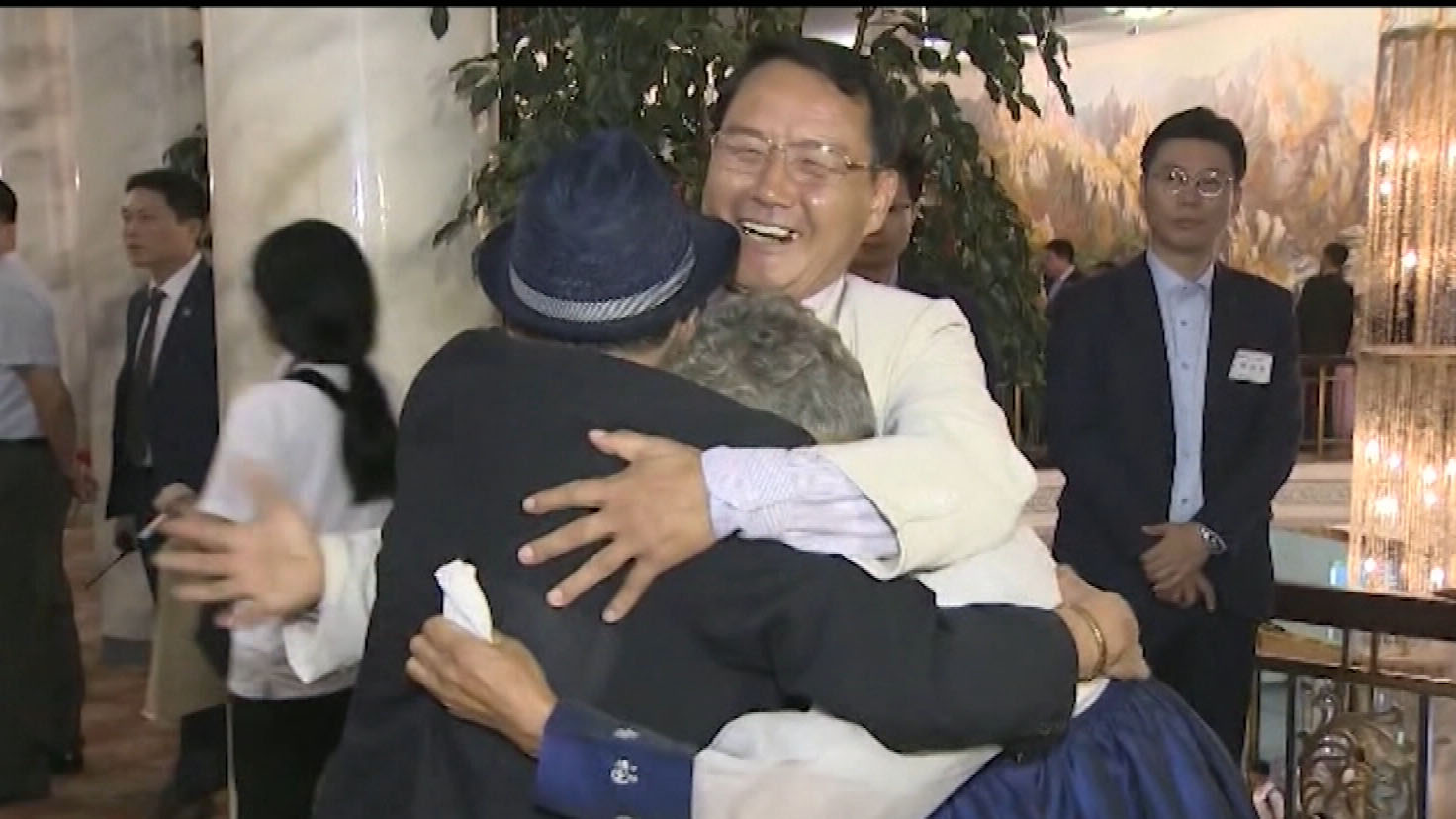 South Koreans united with loved ones split by war