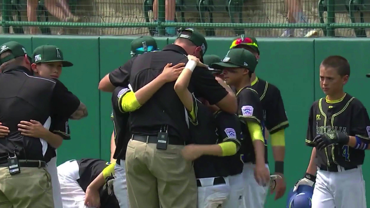 Aussie Little League coach's touching moment