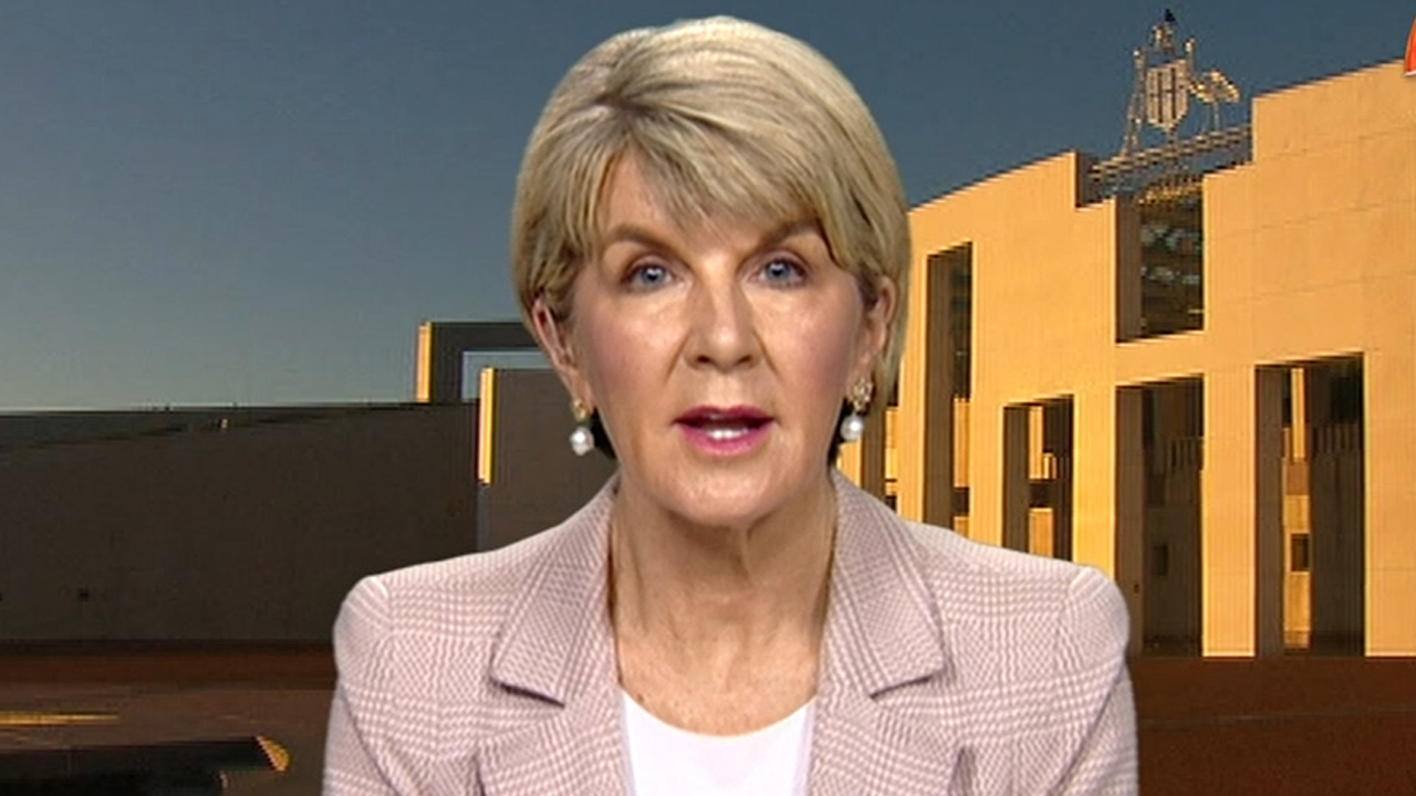 Julie Bishop on the leadership battle