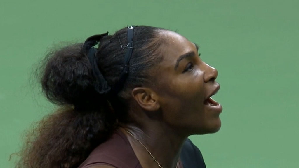 Williams in tears over cheating claims at US Open