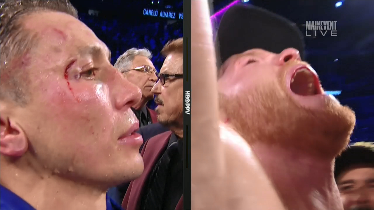Canelo wins by majority decision