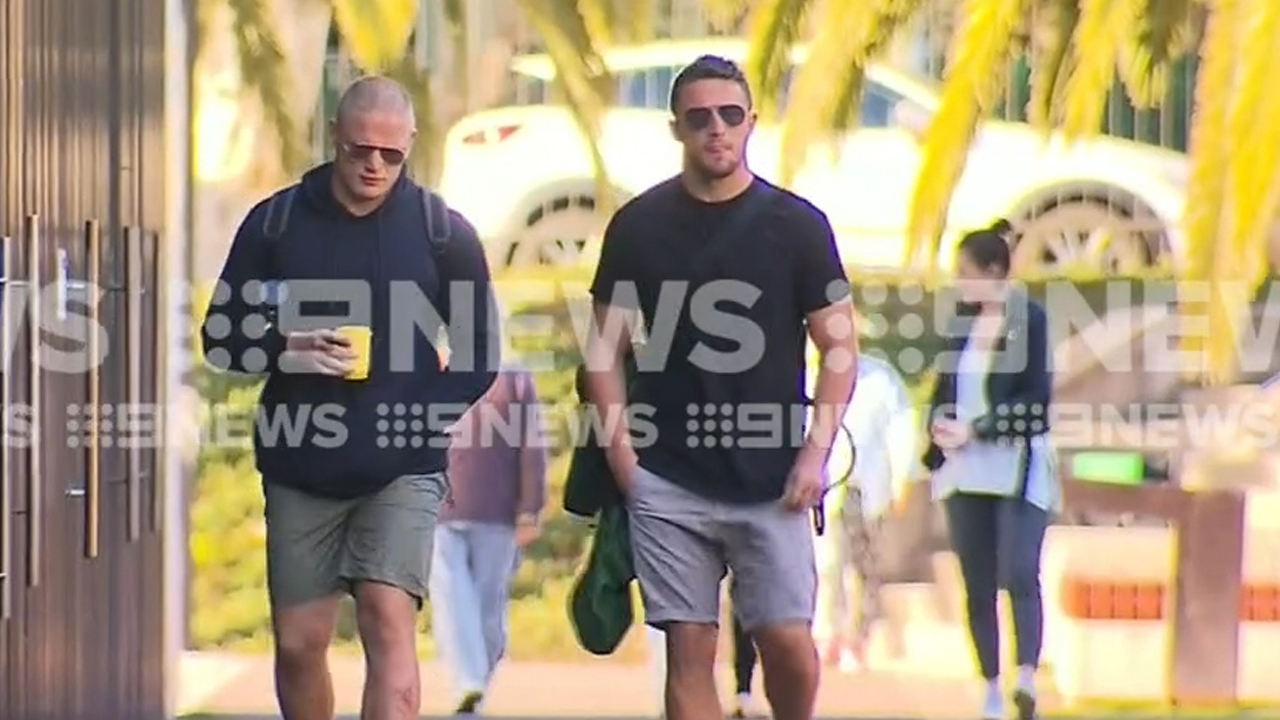 Burgess arrives at training