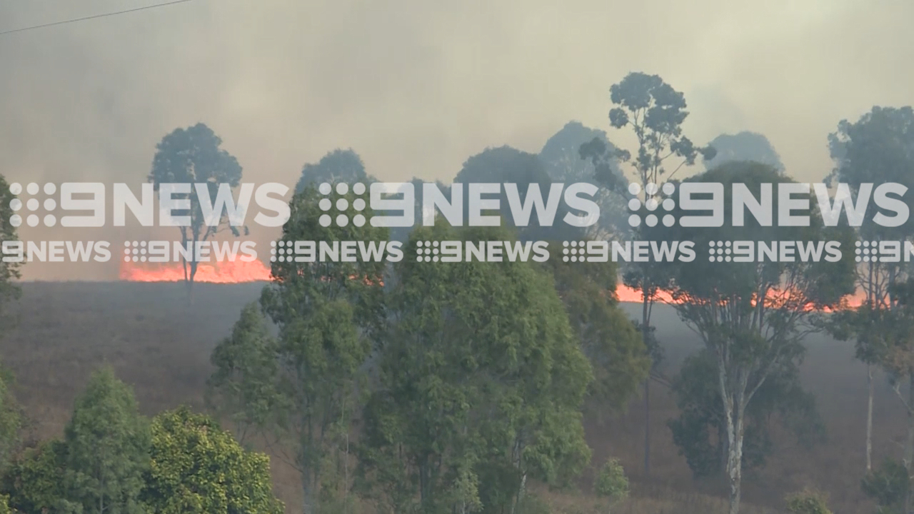 Bushfire burning out-of-control west of Gympie