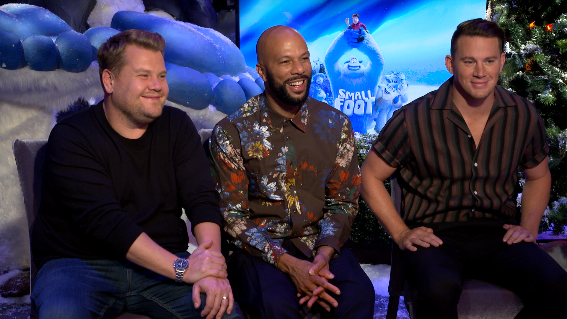 Channing Tatum, Common, and James Corden talk singing in 'Smallfoot'