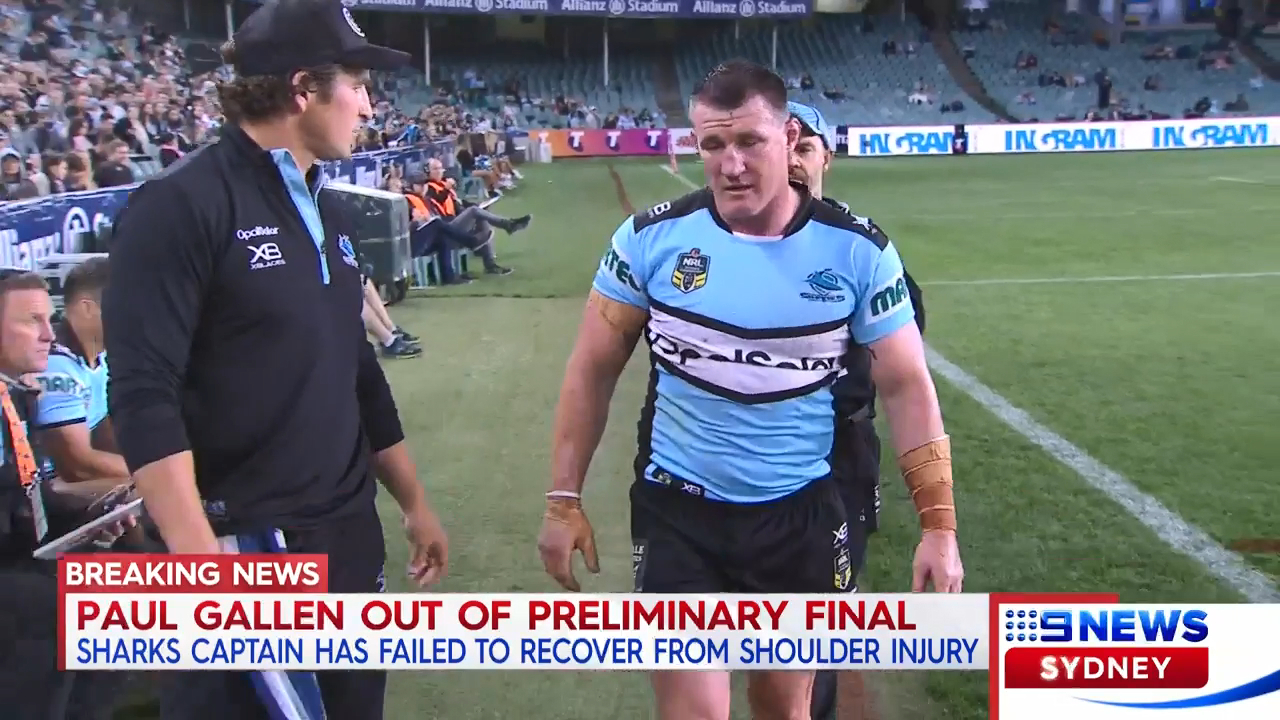Gallen ruled out of Storm clash