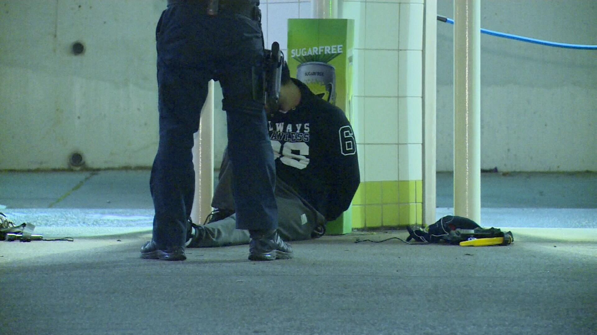 Men arrested at servo