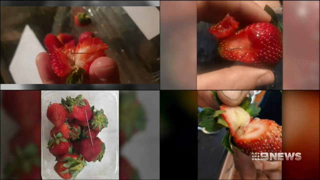 Girl finds needle in strawberry in Cairns