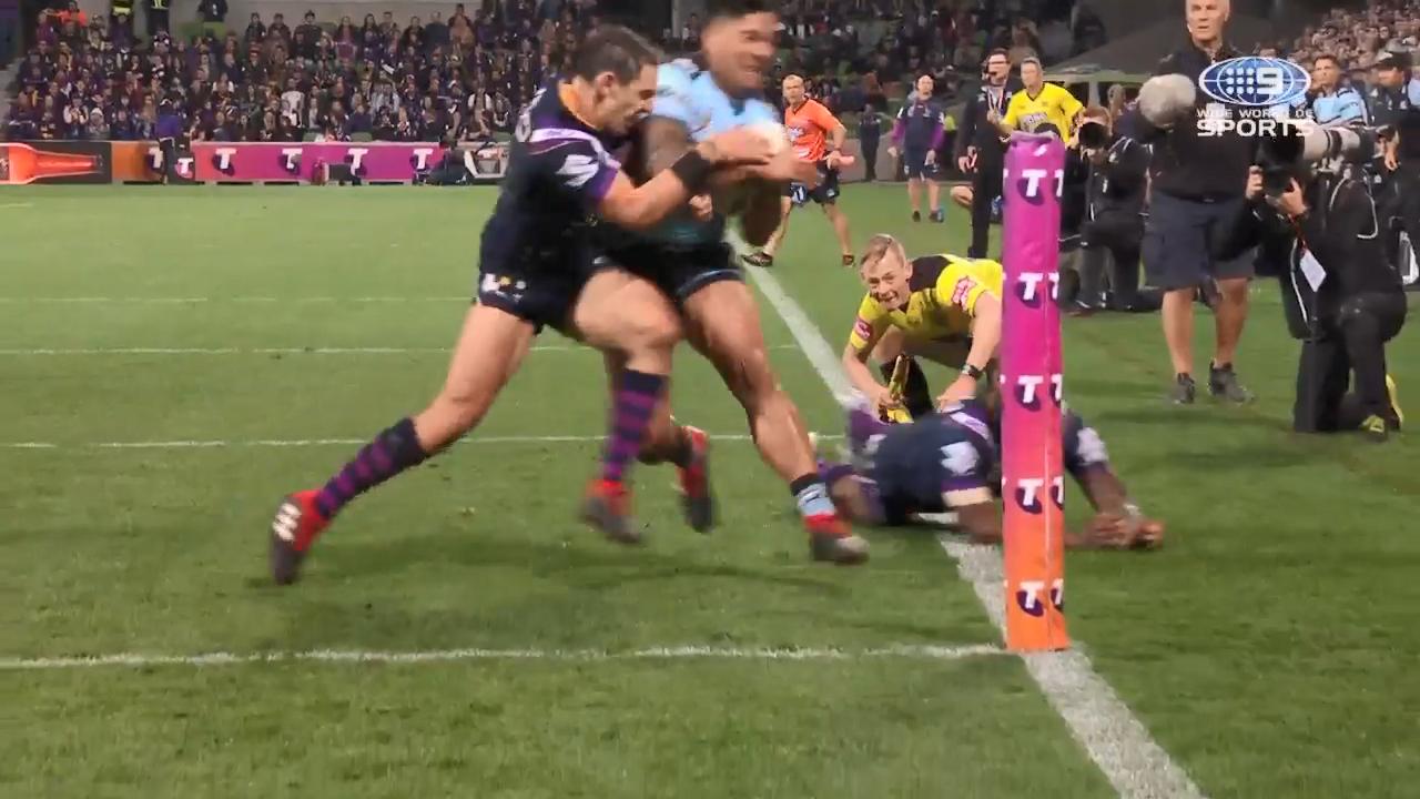 Slater cited for shoulder charge