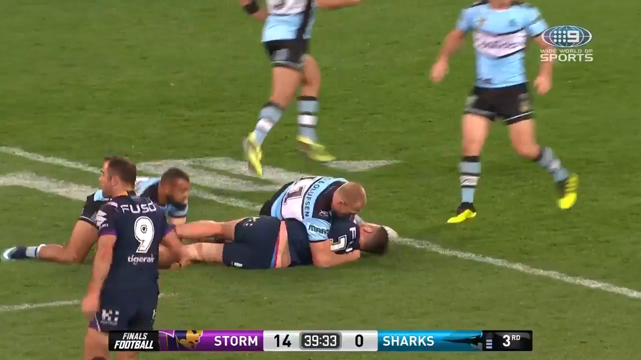 Slater awarded try amid fracas