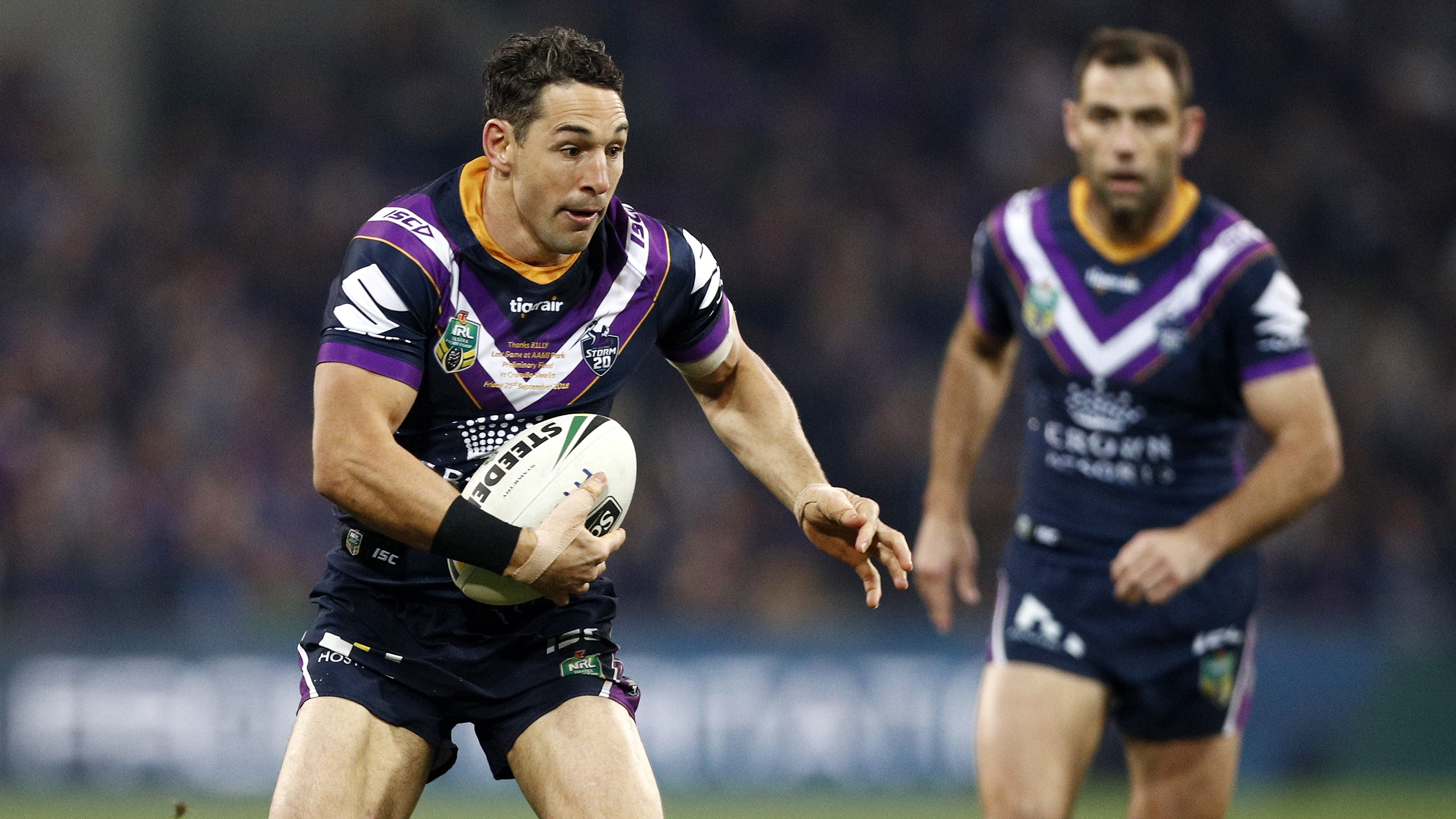 Billy Slater's final home game