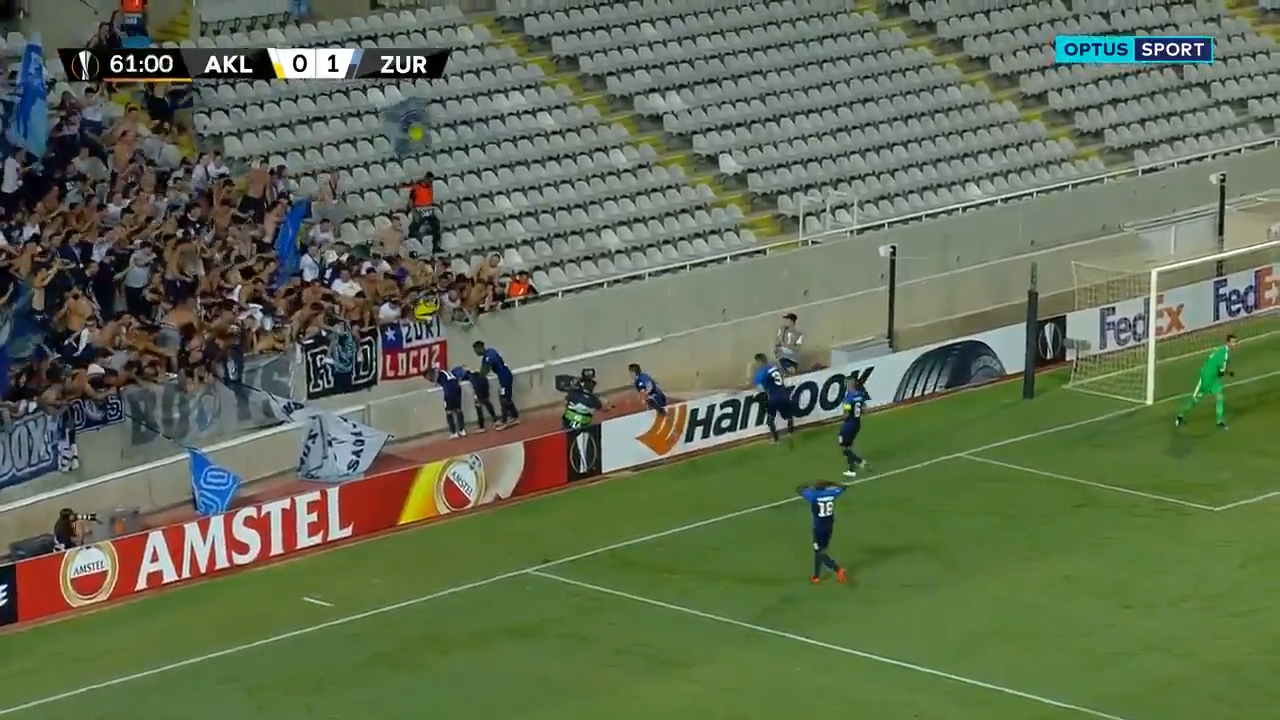 Footballer's goal celebration goes horribly wrong
