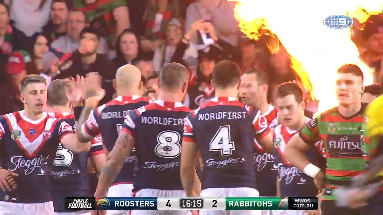 Roosters draw first blood