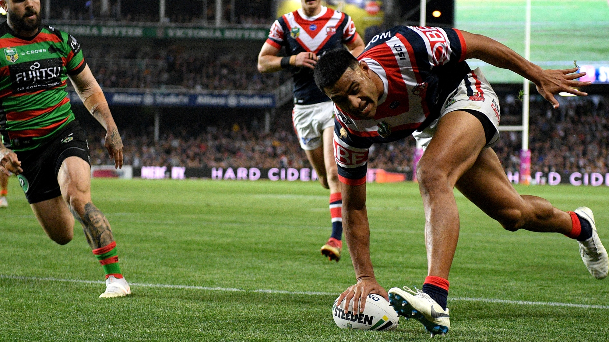 NRL HALF TIME: Sydney Roosters v South Sydney Rabbitohs - Preliminary Final